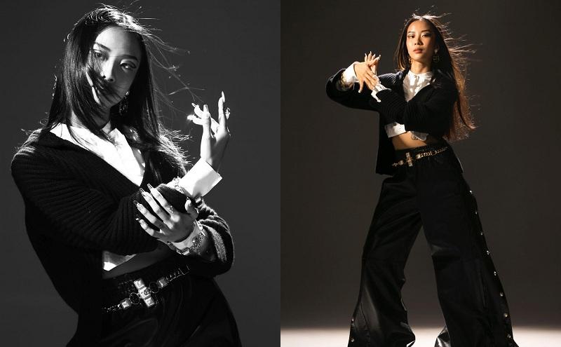 Thêm một thiết kế móng tay được đặt riêng theo sở thích của nàng rapper, giúp cô cá tính, phong cách hơn dù chẳng trang phục rất tối giản.