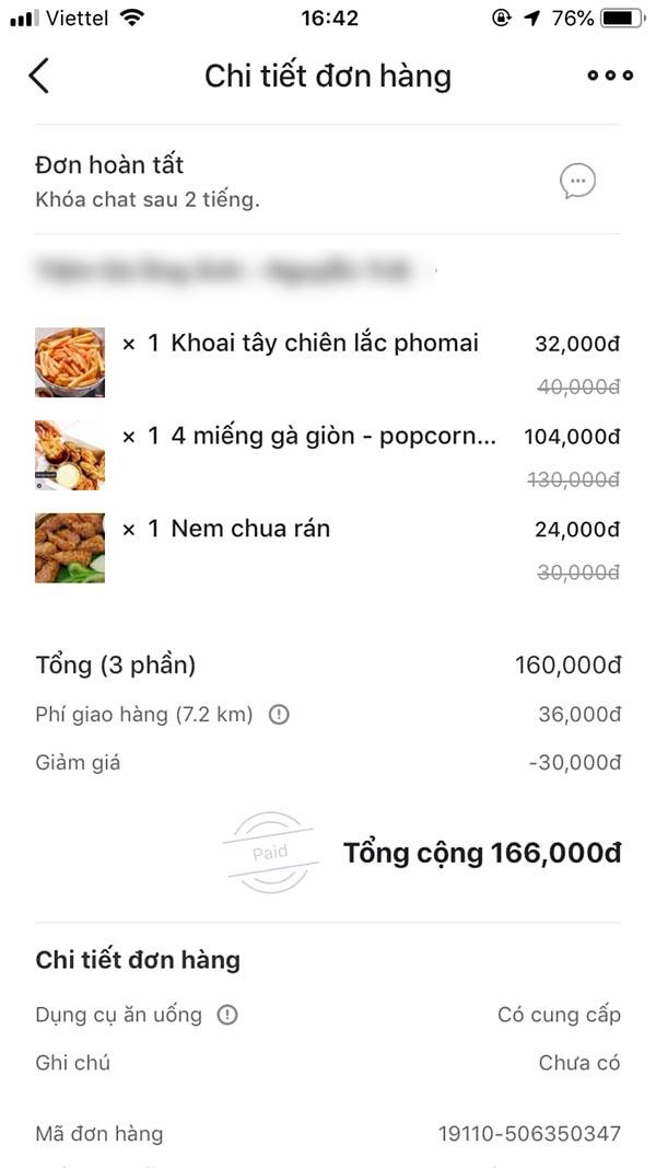 Đơn gà có giá 160 nghìn đồng.
