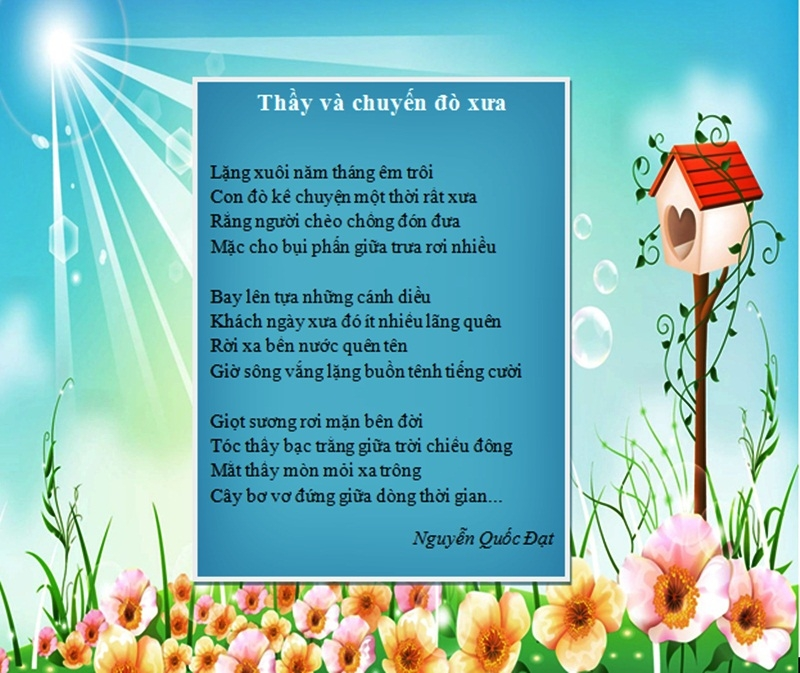Những bài thơ lục bát ý nghĩa về thầy cô nhân ngày 20/11 1