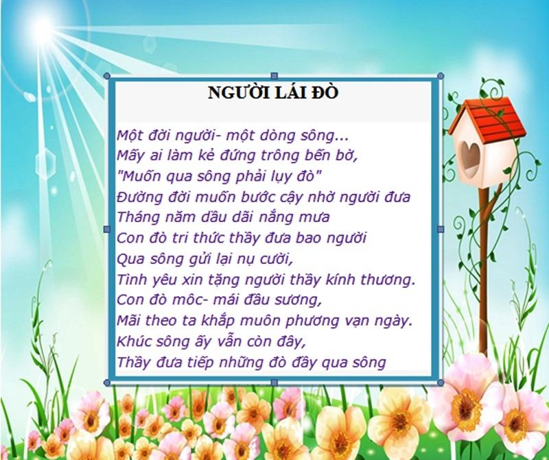 Những bài thơ lục bát ý nghĩa về thầy cô nhân ngày 20/11 2