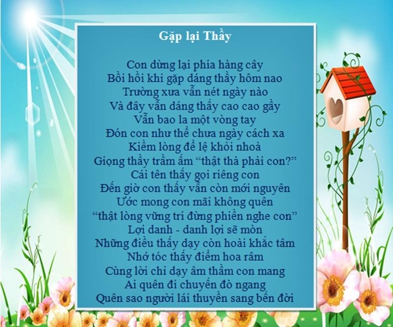 Những bài thơ lục bát ý nghĩa về thầy cô nhân ngày 20/11 4