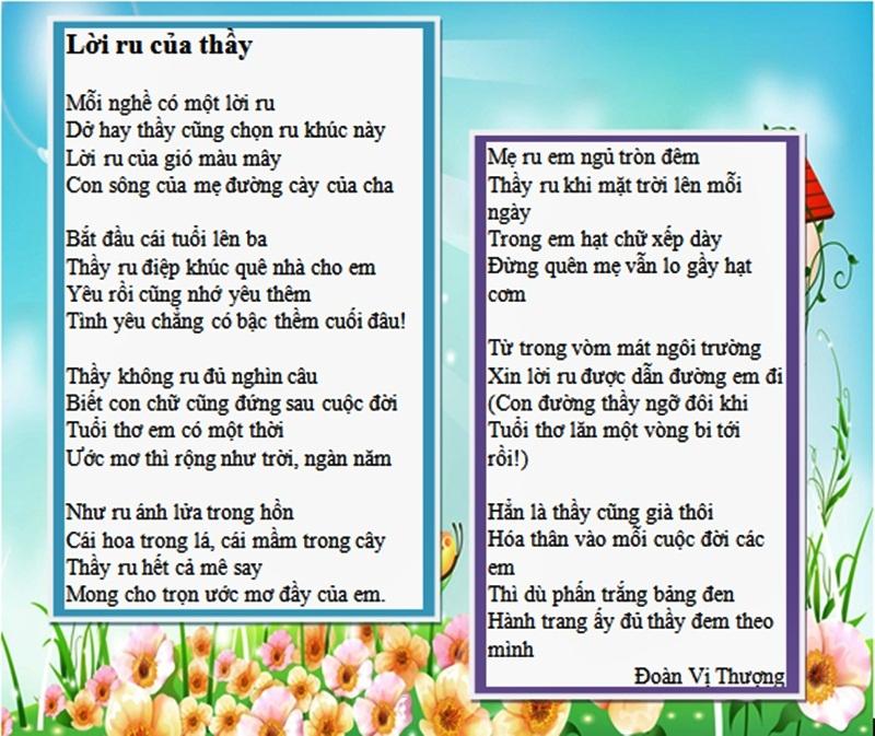 Những bài thơ lục bát ý nghĩa về thầy cô nhân ngày 20/11 5