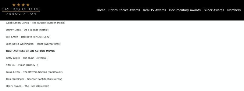 'Hoa Mộc Lan' của Lưu Diệc Phi lọt vào đề cử Critics' Choice Movie Awards, có cơ hội thẳng tiến đến Oscar? 3
