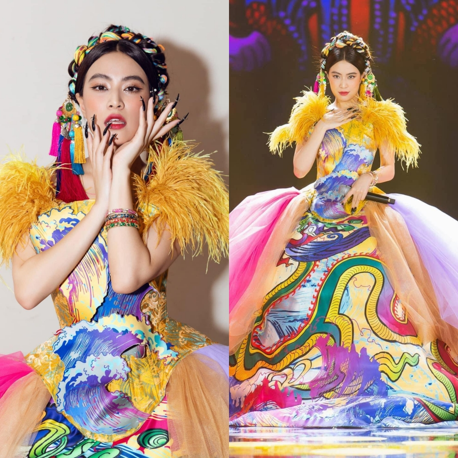 Chung kết hoa hậu Việt Nam: Binz đổi lời Bigcityboi, Hoàng Thuỳ Linh vừa diễn vừa hát live vẫn 'chặt đẹp' dàn thí sinh 2