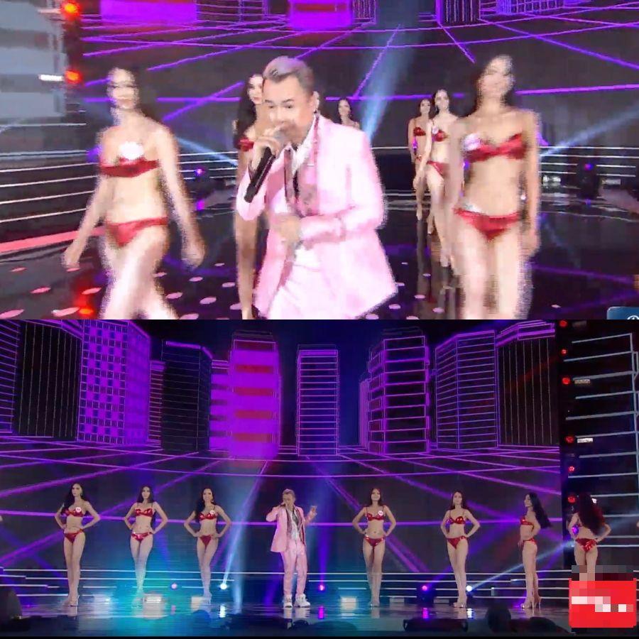 Binz cùng các thí sinh Hoa hậu Việt Nam.