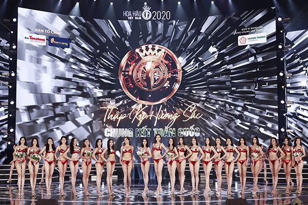 Chiêm ngưỡng màn trình diễn bikini cực kì nóng bỏng của Top 22 tạichung kết Hoa hậu Việt Nam 2020 0