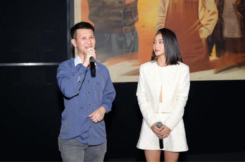 Đạo diễn Nguyễn Phan Quang Bình và diễn viên Khả Ngân