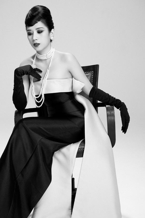 Dương Yến Nhung hóa thân thành nữ minh tinh Audrey Hepburn 1