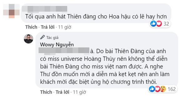 Wowy bất ngờ nhắc đến Hoàng Thuỳ khi giải thích cho fan vì sao không hát Thiên Đàng ở chung kết HHVN 2020.