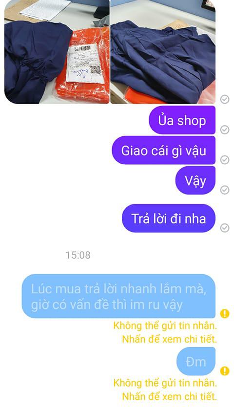 Shop C đã chặn tin nhắn của chị K.X