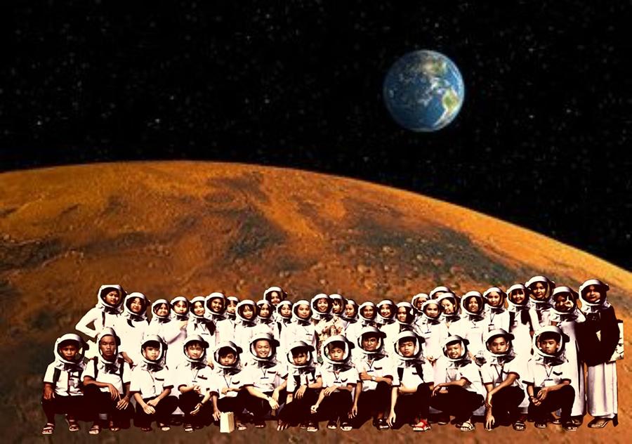 Lên sao Hỏa nhưng không được quên bộ du hành vũ trụ...