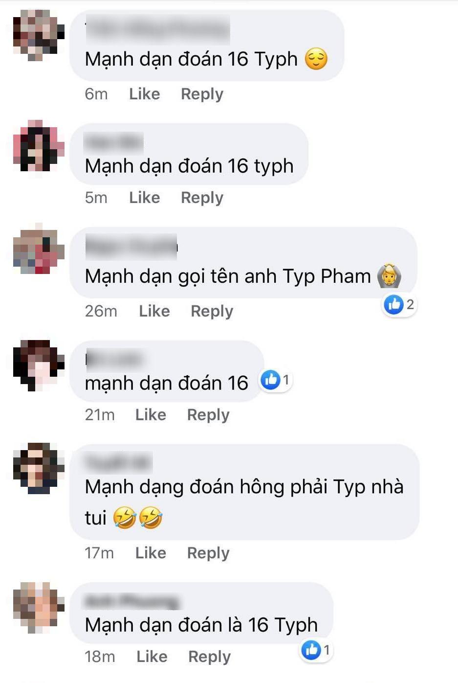 Fan đồng loạt gọi tên 16 Typh.