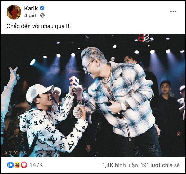 Karik 'tuyên chiến' Châu Bùi để đến với Binz 1