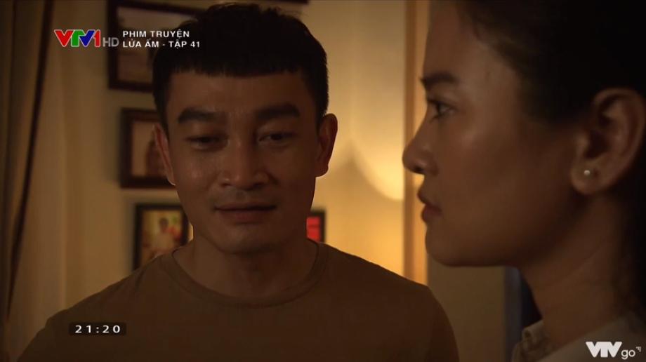 'Lửa ấm' tập 41: Thấy vợ thân mật bên trai lạ, NSƯT Trương Minh Quốc Thái quay sang hỏi tội Thu Quỳnh 3