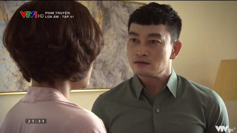 'Lửa ấm' tập 41: Thấy vợ thân mật bên trai lạ, NSƯT Trương Minh Quốc Thái quay sang hỏi tội Thu Quỳnh 10