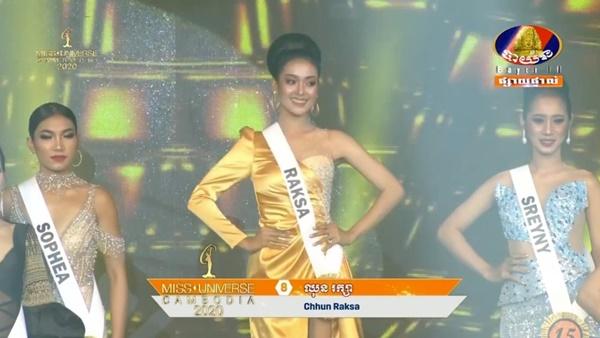 Á hậu 1 Hoa hậu Hoàn vũ Campuchia 'lộ hàng' ngay trên sóng truyền hình 1