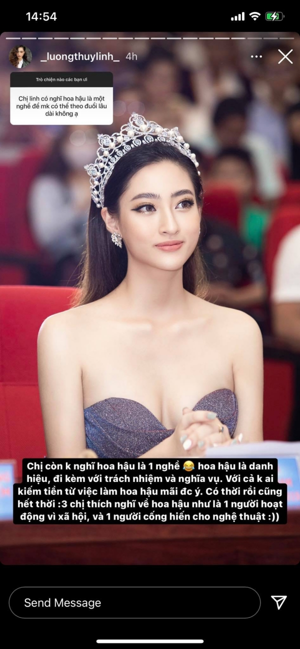 HH Lương Thùy Linh: 'Hoa hậu không phải là một nghề, bản thân không cho phép mình học dốt' 2