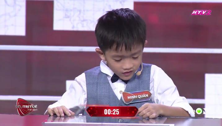 Tài năng trí tuệ 7 tuổi không mấy khó khăn khi thực hiện thửthách