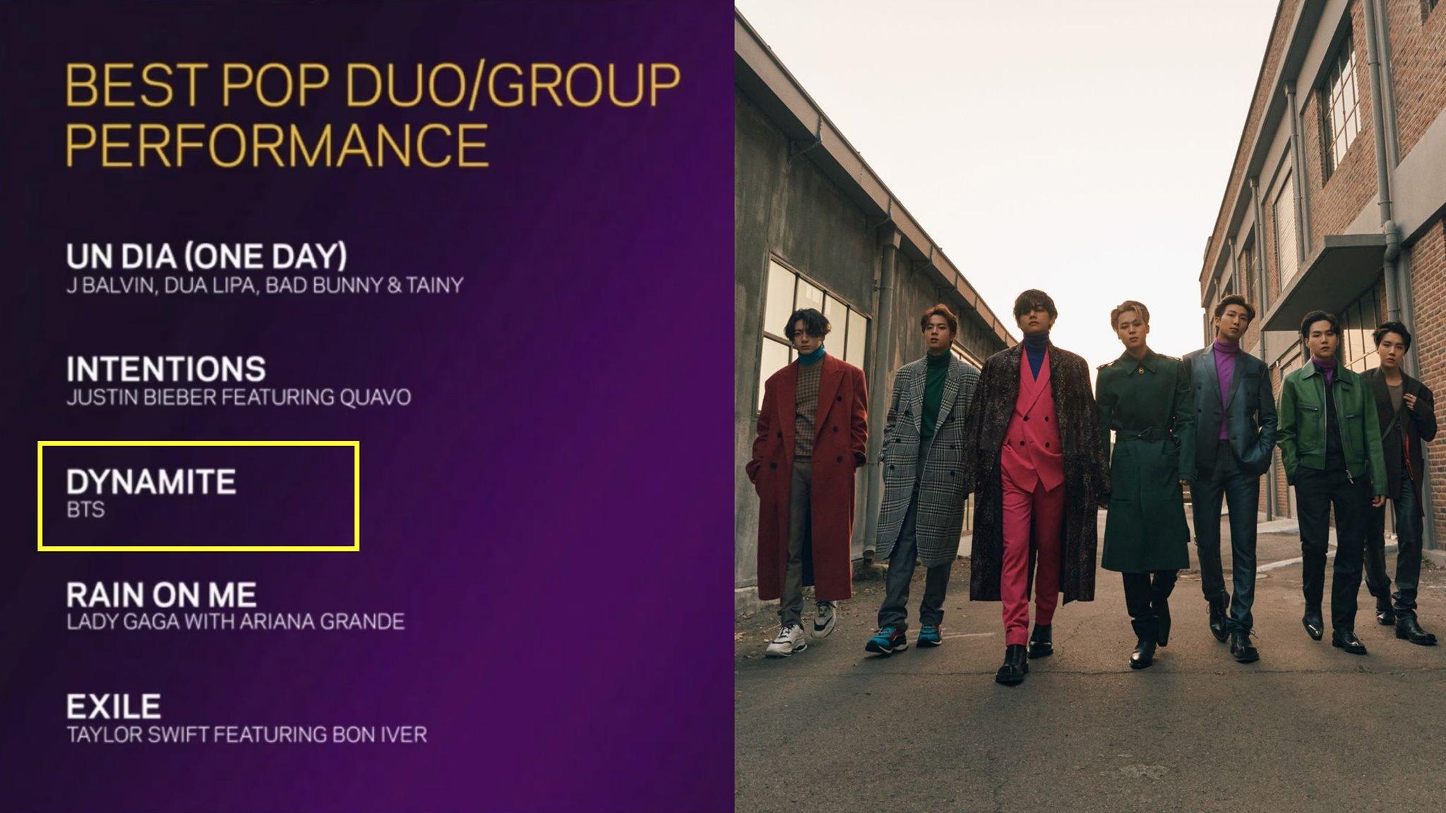 Và mới gần đây BTS đã nhận được đề cử Grammy