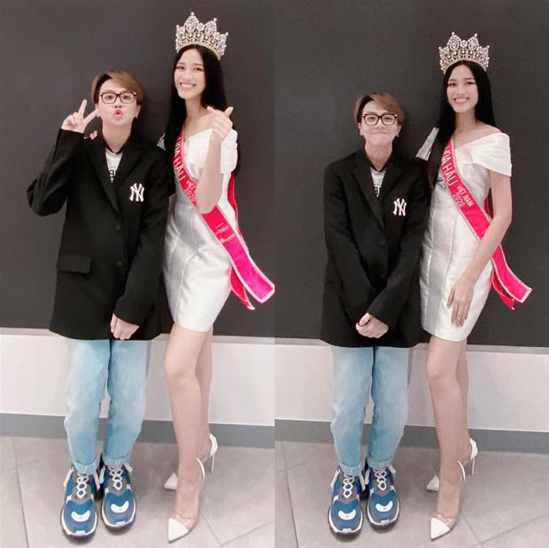Bức ảnh được Duy Khánh khoe trên trang cá nhân cho thấy Hoa hậu Đỗ Thị Hà gầy đi nhiều so với thời điểm đăng quang