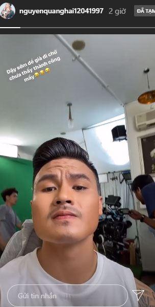 Hình ảnh mới nhất Quang Hải cập nhật trên Instagram