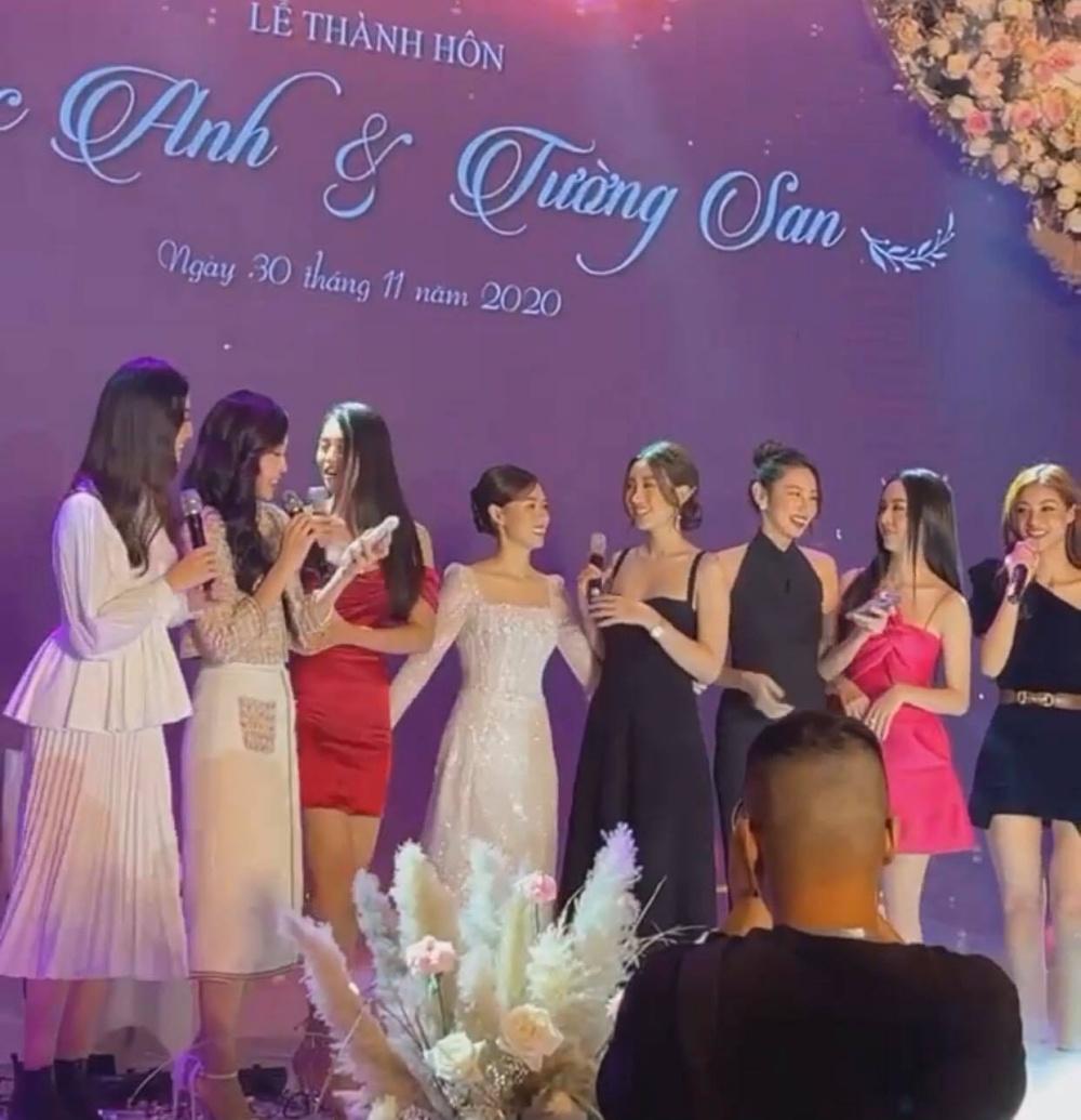 Dàn người đẹp xuất hiện tại đám cưới Á hậu Tường San, 'lập band' thể hiện tài năng ca hát 3
