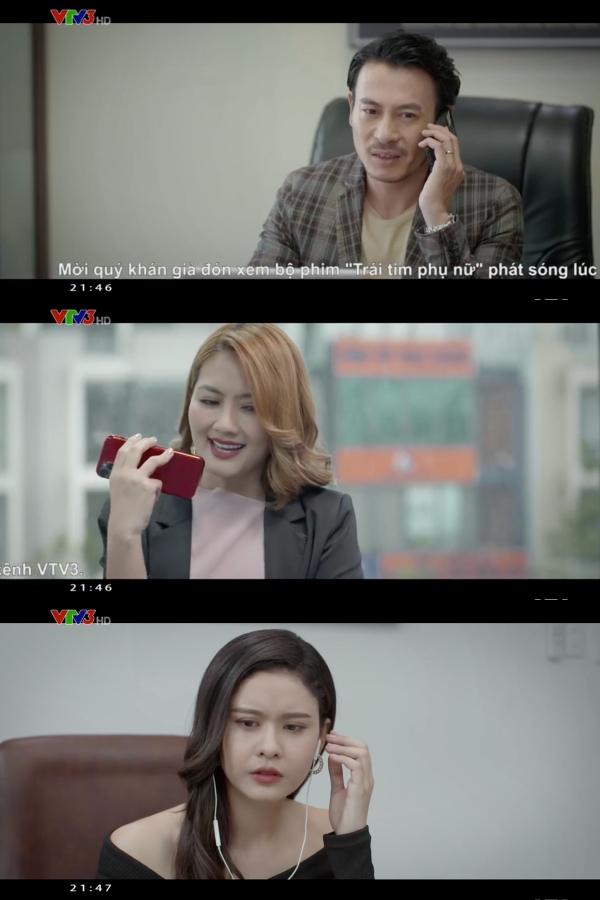 Cuộc điện thoại nói về chuyện công việc của Khánh và Hà bị Phương nghe trộm được
