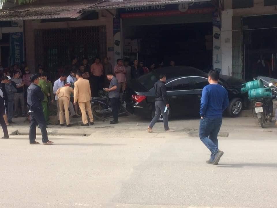 Hiện trường vụ gây tai nạn kinh hoàng ở Thái Nguyên.