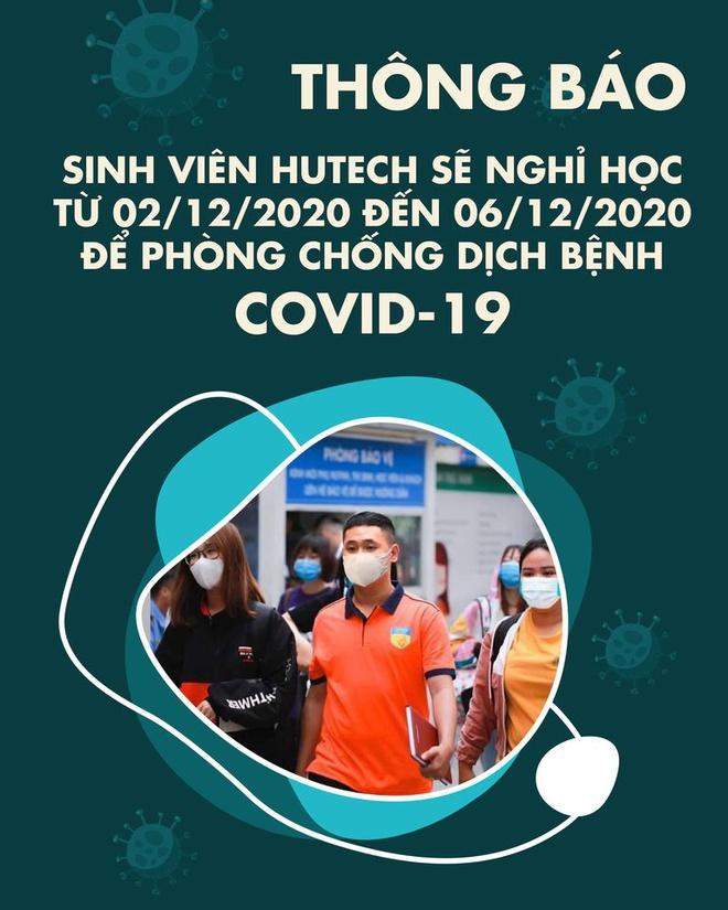 ĐH Công nghệ TP.HCMthông báo cho sinh viên nghỉ học kể từ ngày 2/12 - 6/12/2020