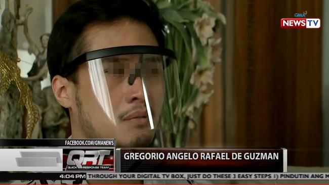 De Guzman bật khóc trên truyền hình.