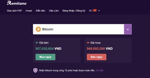 Sàn giao dịch tiền ảo Remitano tại Việt Nam