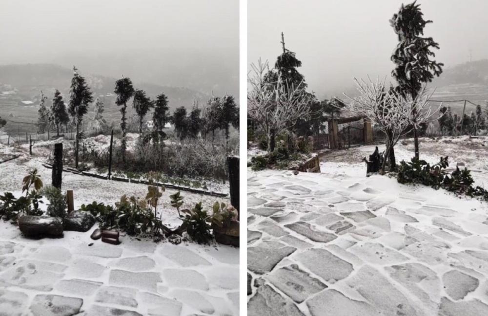 Clip: Tuyết đang rơi trắng xóa ở Y Tý (Lào Cai), khung cảnh đẹp chẳng khác gì trời Âu 0