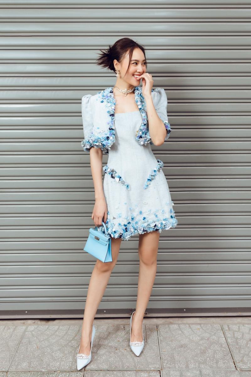 'Gái già' Lan Ngọc dịu dàng dạo phố trong loạt váy ready-to-wear của Lê Thanh Hòa 5