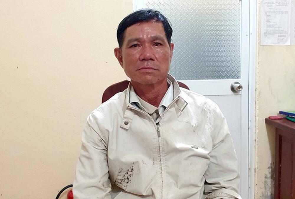 Nguyễn Văn Cọp tại cơ quan công an.