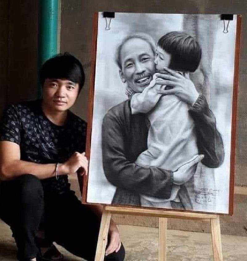 Anh Phạm Thanh Lâm là tác giả của nhiều bức tranh truyền thần