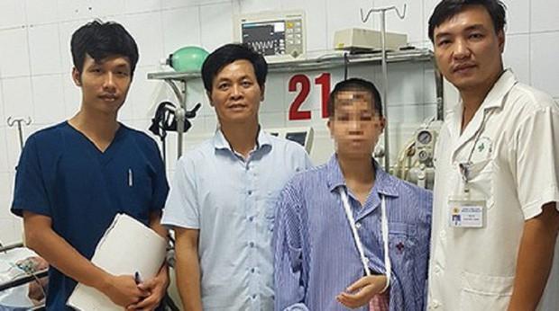 Chị Nhung được xuất viện ngày hôm qua.