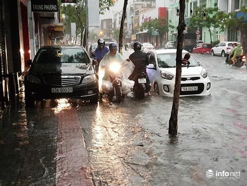 Mưa lớn suốt đêm, rất nhiều tuyến đường ở Đà Nẵng biến thành sông! 0