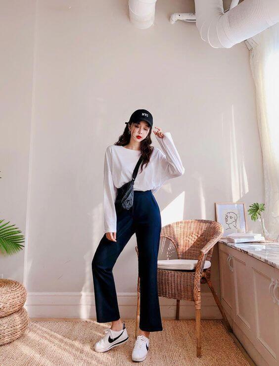 Chiêu tạo eo thon, hack chân dài vi diệu 'nhất quả đất' khi diện áo phông + quần ống rộng, đến Lisa (Black Pink) cũng đang áp dụng 1