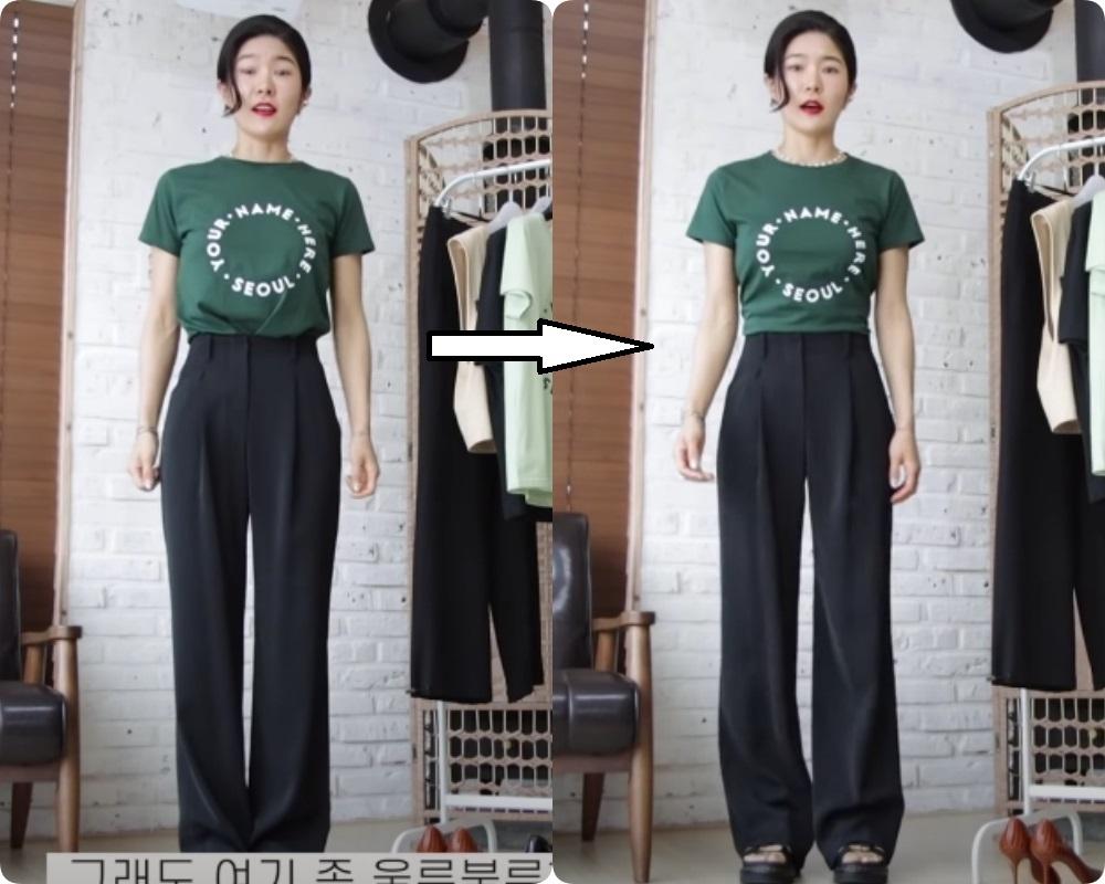 Chiêu tạo eo thon, hack chân dài vi diệu 'nhất quả đất' khi diện áo phông + quần ống rộng, đến Lisa (Black Pink) cũng đang áp dụng 4