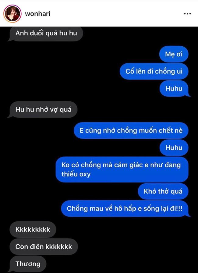 Hari Won lại tung tin nhắn mùi mẫn với Trấn Thành, tiết lộ cách nói chuyện thường ngày của hai vợ chồng 3
