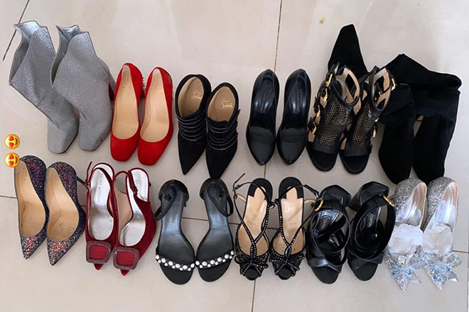 Bộ sưu tập giày cao gót của cô cũng có số lượng hạn chế.