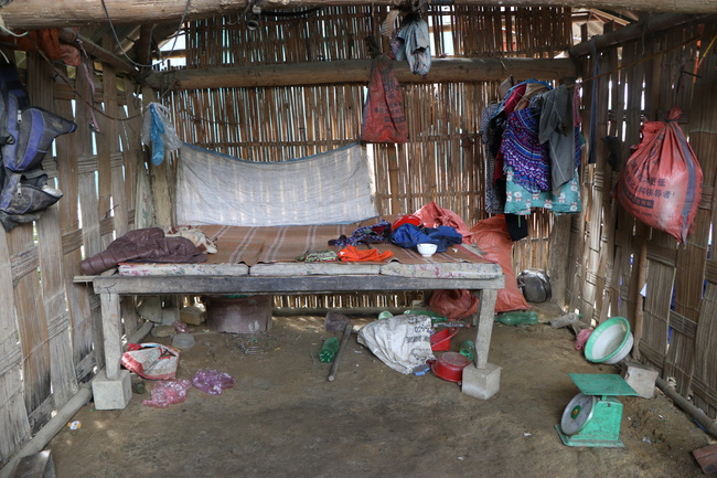 Ngôi nhà của bé Ma Thị Xinh (SN 2014) tại thôn Nậm Cọ, xã Khánh Yên Thượng.
