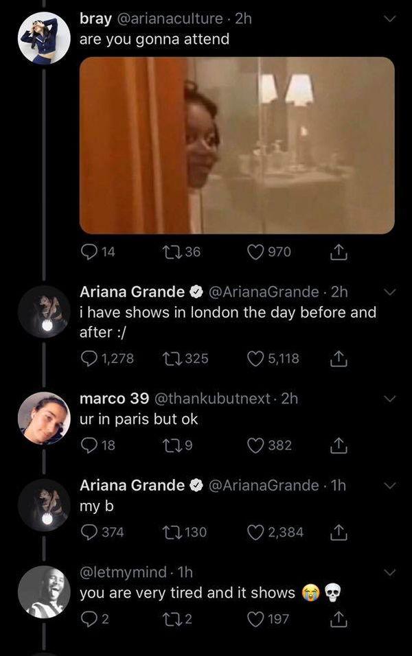 Cô nàng tiết lộ lí do là vì có buổi biểu diễn trước và sau đó.