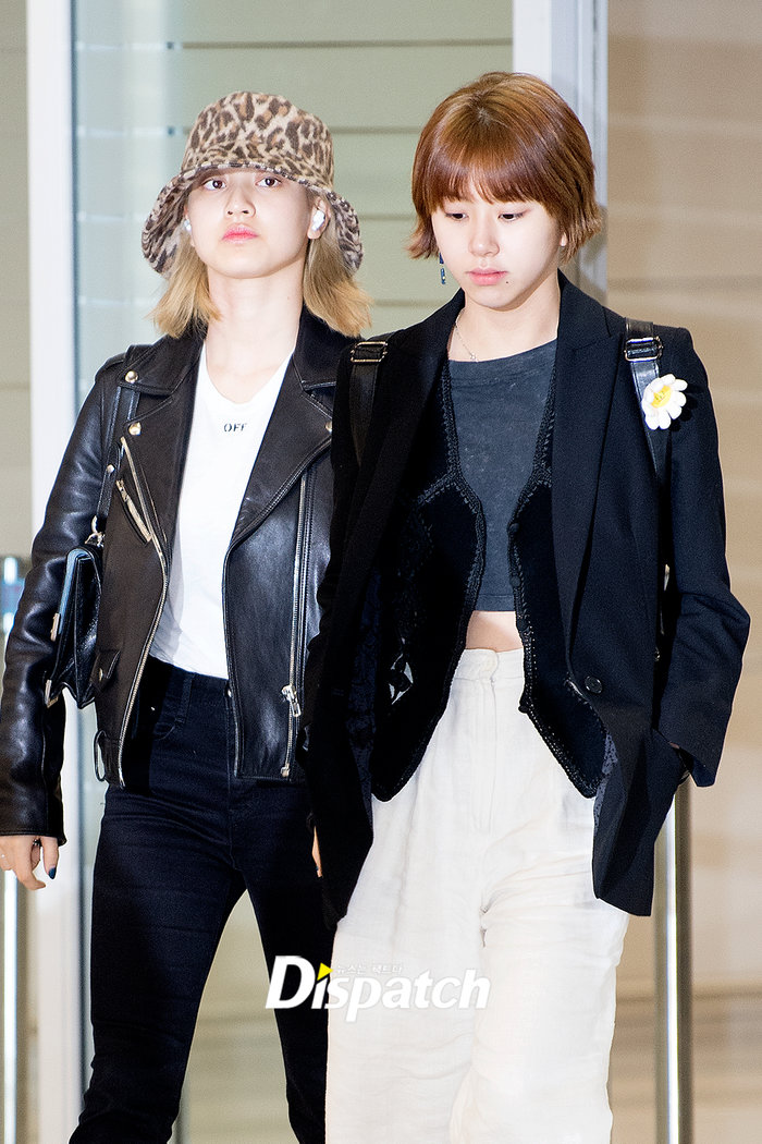 Jihyo và Chae Young.