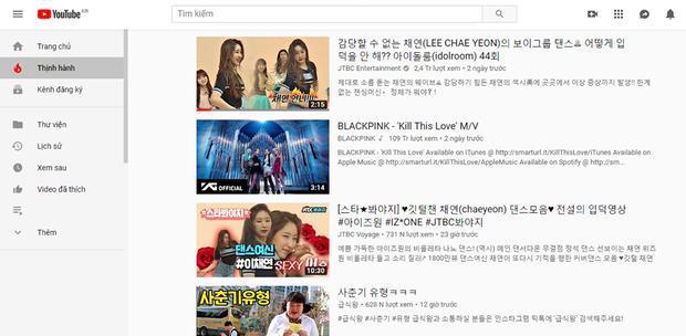 Những đoạn video nhảy của Chaeyeon liên tục leo top trending Hàn Quốc