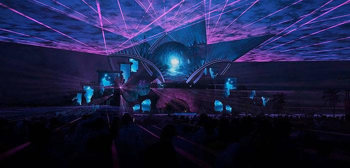 Sân khấu hoành tráng của đại nhạc hội âm nhạc điện tử lớn nhất Thái Lan.
