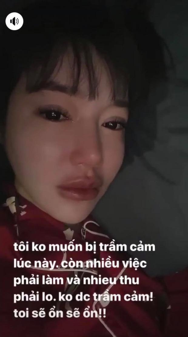 Thậm chí một đoạn video được người đẹp đăng tải cho thấy Elly Trần có dấu hiệu bất ổn, lo sợ mình bị trầm cảm, cô còn khóc nức nở giữa thời điểm nghi bị chồng cắm sừng.