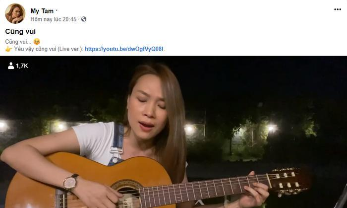 Mỹ Tâm đăng tải đoạn video vô cùng dễ thương với dòng trạng thái 'Cũng vui…'