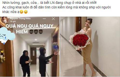 Ninh Dương Lan Ngọc khoe Valentine được tặng bó hoa to đùng nhưng vô tình lại để lộ bằng chứng chụp tại nhà riêng Chi Dân 0