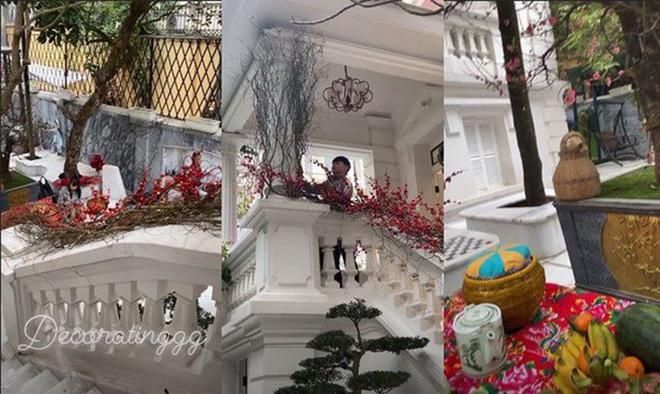 Những hình ảnh mặt tiền căn biệt thự từng được Thanh Thah Tú chia sẻ trong những ngày Tết Canh Tý vừa qua.